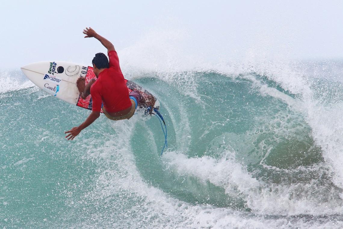 Enjoying Surfing, Nicaragua